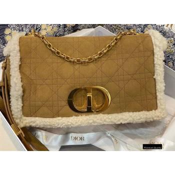 Dior Caro Bag in Shearling Camel 2020 (vivi-20121511)