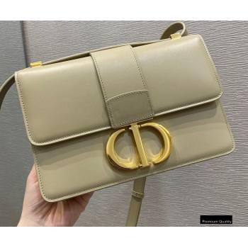 Dior 30 Montaigne Flap Bag in Box Calfskin Beige 2020 (vivi-20121510)