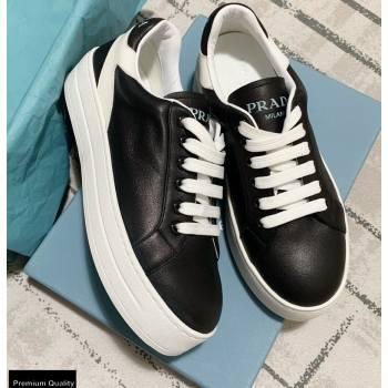 Prada Logo Leather Sneakers Black 2020 (kewei-20121710)