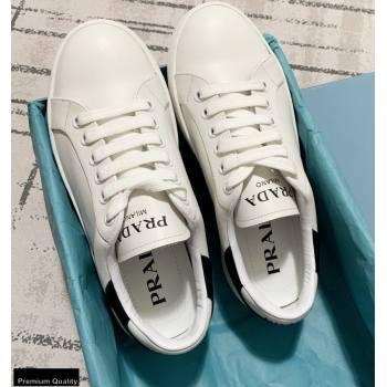Prada Logo Leather Sneakers White 2020 (kewei-20121711)