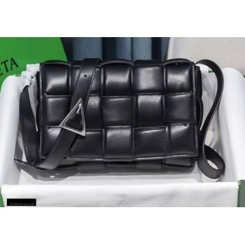 Bottega Veneta Nappa Padded Cassette Crossbody Bag Black/Silver (misu-20121822)