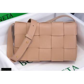 Bottega Veneta Nappa Cassette Crossbody Bag Nude (misu-20121845)