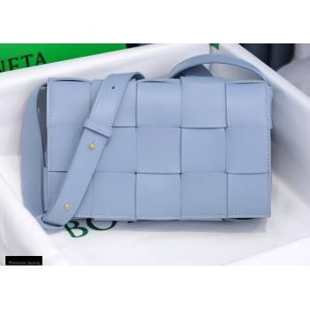 Bottega Veneta Nappa Cassette Crossbody Bag Baby Blue (misu-20121850)