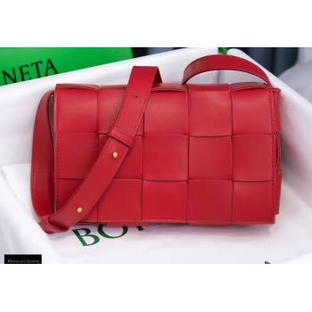 Bottega Veneta Nappa Cassette Crossbody Bag Red (misu-20121849)