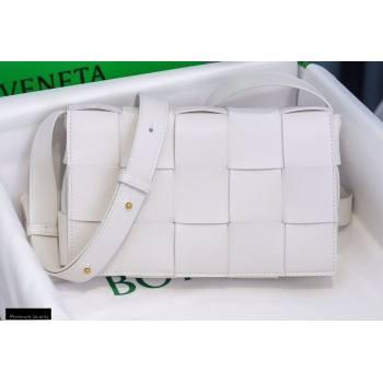 Bottega Veneta Nappa Cassette Crossbody Bag White (misu-20121851)