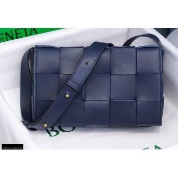 Bottega Veneta Nappa Cassette Crossbody Bag Dark Blue (misu-20121856)