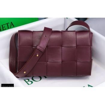 Bottega Veneta Nappa Cassette Crossbody Bag Burgundy (misu-20121852)