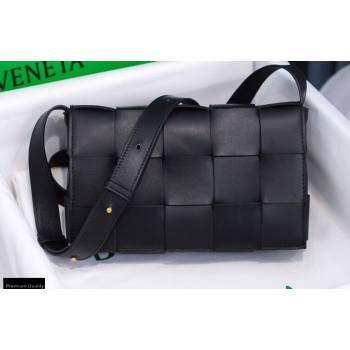 Bottega Veneta Nappa Cassette Crossbody Bag Black/Gold (misu-20121857)