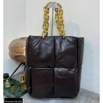 Bottega Veneta Padded The Chain Tote Bag Coffee (misu-20121873)