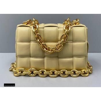 Bottega Veneta Nappa The Chain Cassette Crossbody Bag Porridge Yellow (misu-20121827)