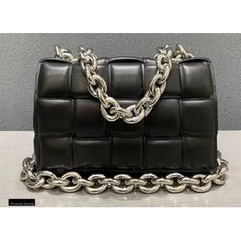 Bottega Veneta Nappa The Chain Cassette Crossbody Bag Black/Silver (misu-20121836)