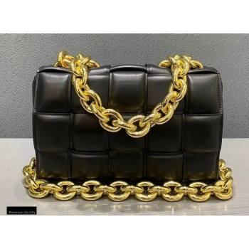 Bottega Veneta Nappa The Chain Cassette Crossbody Bag Black/Gold (misu-20121835)