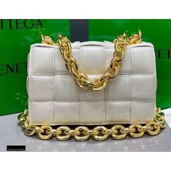 Bottega Veneta Nappa The Chain Cassette Crossbody Bag White (misu-20121834)
