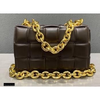 Bottega Veneta Nappa The Chain Cassette Crossbody Bag Coffee (misu-20121832)