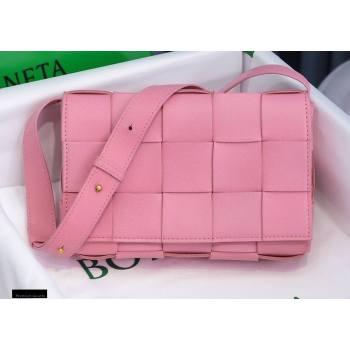 Bottega Veneta Nappa Cassette Crossbody Bag Pink (misu-20121855)