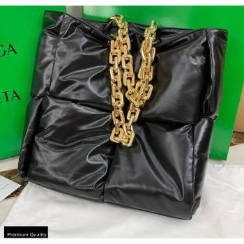 Bottega Veneta Padded The Chain Tote Bag Black (misu-20121872)