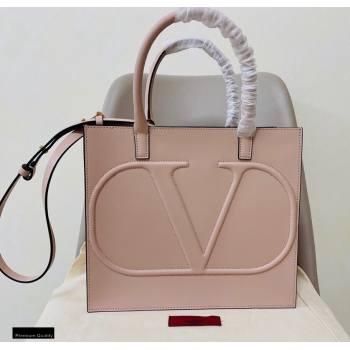 Valentino Large VLogo Walk Calfskin Tote Bag Nude 2020 (jindong-20122104)