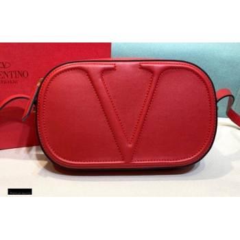 Valentino VLogo Walk Calfskin Crossbody Bag Red 2020 (xinyidai-20122105)