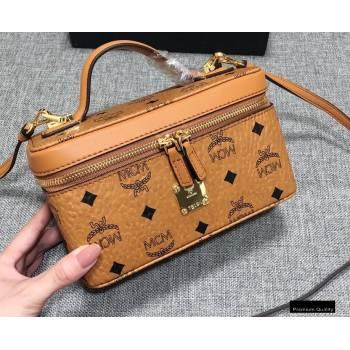 MCM Visetos Rockstar Vanity Case Bag Cognac (xiaodai-20122319)