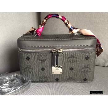 MCM Visetos Rockstar Vanity Case Bag Gray (xiaodai-20122317)