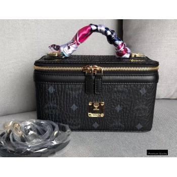 MCM Visetos Rockstar Vanity Case Bag Black (xiaodai-20122316)