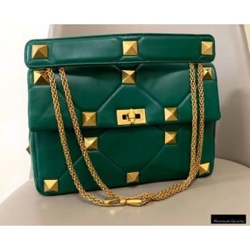 Valentino Large Roman Stud Nappa Chain Bag Green 2021 (jindong-20122804)