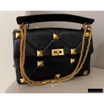 Valentino Large Roman Stud Nappa Chain Bag Black 2021 (jindong-20122801)