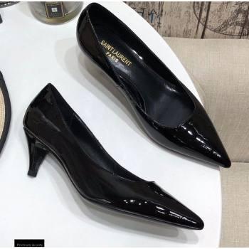 Saint Laurent Heel 5.5cm Anais Pumps Patent Black (modeng-20122946)