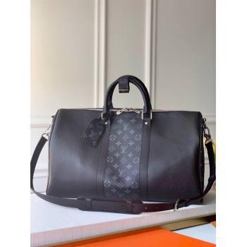 louis vuitton Keepall 50 Bandoulière m53763 in taiga leather (kiki-3691)