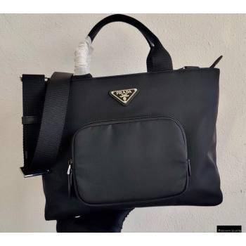 Prada Nylon Tote Bag 1BG354 Black 2021 (ziyin-21011113)