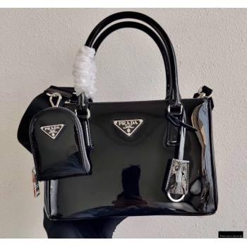 Prada Galleria Brushed Leather Mini Bag 1BA896 Black 2021 (ziyin-21011111)