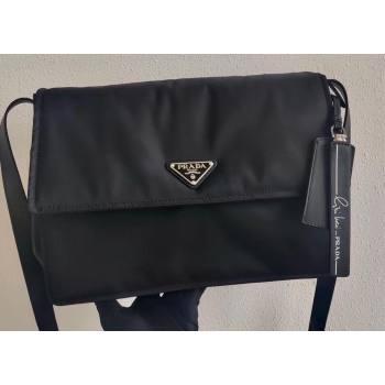 Prada Medium Padded Nylon Shoulder Bag 1BD255 Black 2021 (ziyin-21011110)