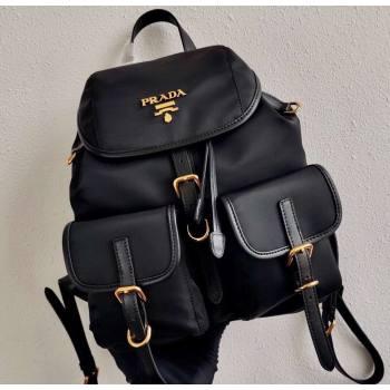 Prada Small Nylon Backpack Bag 1BZ677 Black/Gold 2021 (ziyin-21011108)