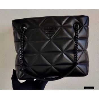 Prada Spectrum Nappa Leather Tote Bag 1BG298 Black 2021 (ziyin-21010909)