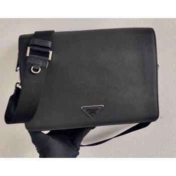 Prada Leather Bandoleer Cross-Body Bag 2VD012 Black 2021 (ziyin-21011109)