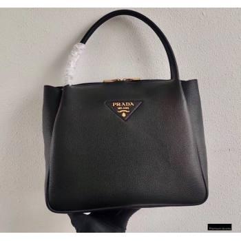 Prada Medium Leather HandBag 1BC142 Black 2021 (ziyin-21010916)