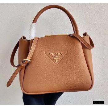Prada Small Leather HandBag 1BC145 Brown 2021 (ziyin-21010919)