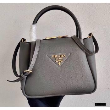 Prada Small Leather HandBag 1BC145 Gray 2021 (ziyin-21010918)