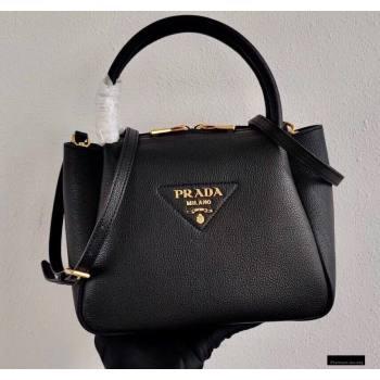 Prada Small Leather HandBag 1BC145 Black 2021 (ziyin-21010917)