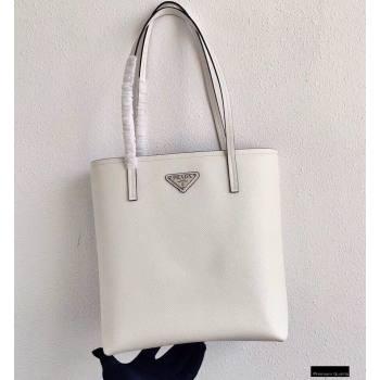 Prada Small Saffiano Leather Tote Bag 1BG342 White 2021 (ziyin-21010908)
