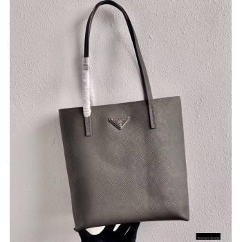 Prada Small Saffiano Leather Tote Bag 1BG342 Gray 2021 (ziyin-21010907)