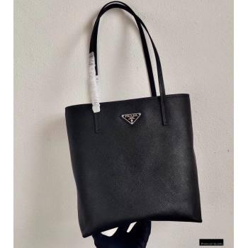 Prada Small Saffiano Leather Tote Bag 1BG342 Black 2021 (ziyin-21010906)