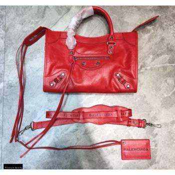 Balenciaga Classic City Small Bag with Logo Strap Red (jiemei-21011302)