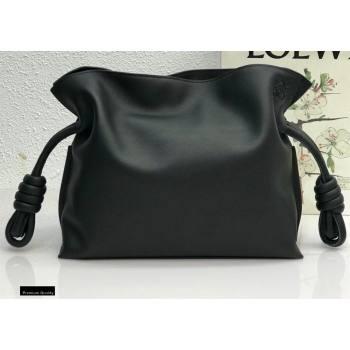 Loewe Medium Flamenco Clutch Bag in Nappa Calfskin Black (yongsheng-21011301)