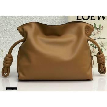 Loewe Medium Flamenco Clutch Bag in Nappa Calfskin Brown (yongsheng-21011302)