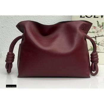 Loewe Medium Flamenco Clutch Bag in Nappa Calfskin Burgundy (yongsheng-21011303)