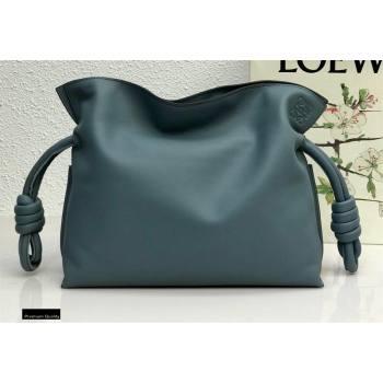 Loewe Medium Flamenco Clutch Bag in Nappa Calfskin Dusty Blue (yongsheng-21011304)