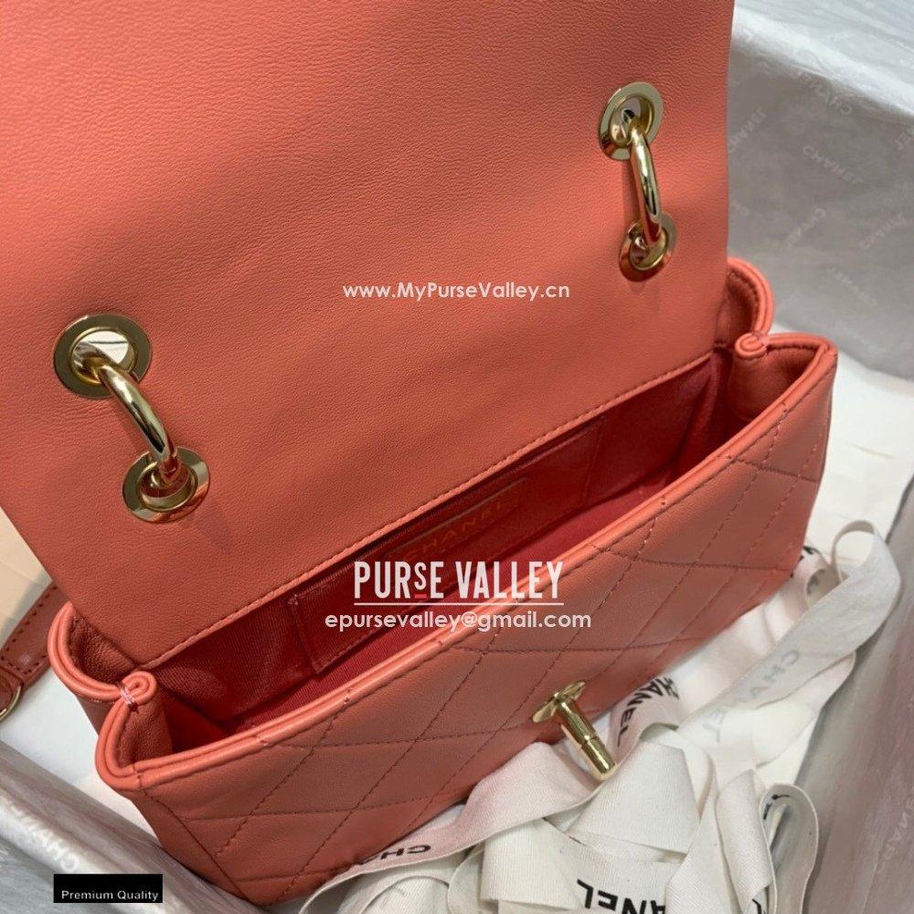 Chanel Lambskin Small Flap Bag AS2317 Coral Pink 2021 (jiyuan/haoyun-21012224)
