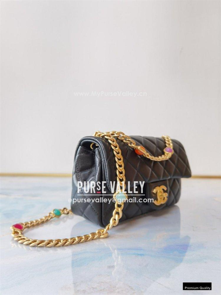 Chanel Resin Chain Lambskin Small Flap Bag AS2380 Black 2021 (jiyuan/haoyun-21012225)