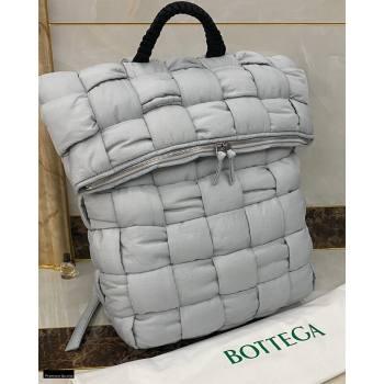 Bottega Veneta Fold-top THE PADDED BACKPACK Bag in Nylon Gray 2021 (misu-21012311)